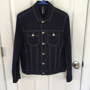 "Zara Man Button Up Sear sucker "" jean jacket"""